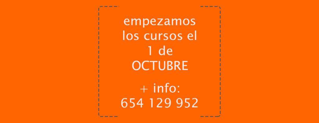 comienzo cursos 1 de octubre