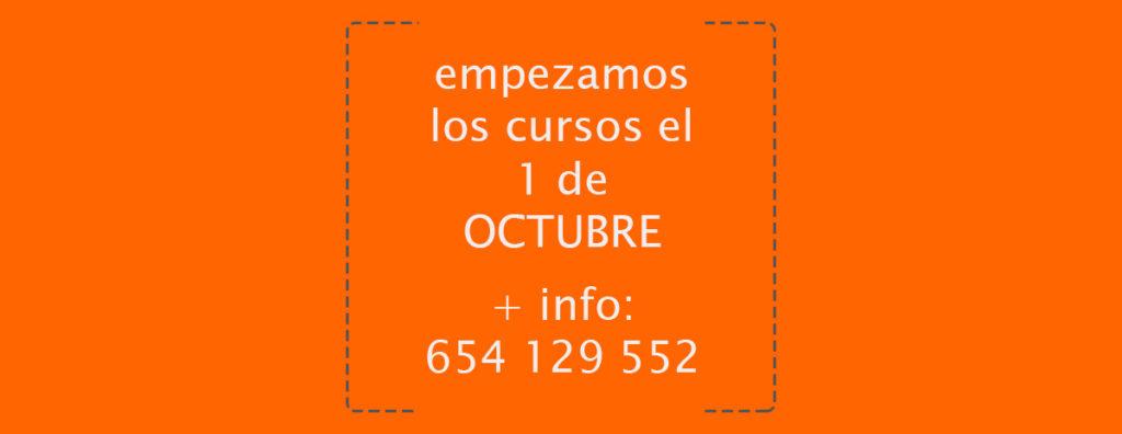 empezamos el 1 de octubre más info 654129552